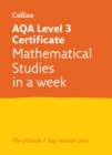 AQA Level 3 Certificate Mathematical Studies: In a Week