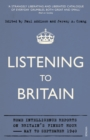 Listening to Britain : Home Intelligence Reports on Britain's Finest Hour, May-September 1940
