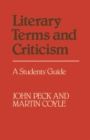 Literary Terms and Criticism: A Students' Guide