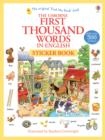 First 1000 Words in English Sticker Book