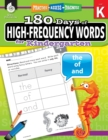 180 Days of High-Frequency Words for Kindergarten : Practice, Assess, Diagnose