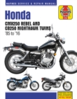 Honda Cmx250 Rebel and Cb250 Nighthawk, 1985-2016 Haynes Repair Manual