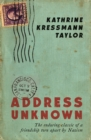 Address Unknown - Book