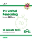 New 11+ CEM 10-Minute Tests: Verbal Reasoning - Ages 10-11 Book 1 (with Online Edition) - Book