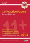 New 11+ CEM Practice Papers: Ages 10-11 - Pack 4 (with Parents' Guide & Online Edition) - Book