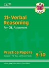 New 11+ GL Verbal Reasoning Practice Papers - Ages 9-10 (with Parents' Guide & Online Edition) - Book