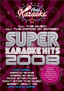 Super Karaoke Hits 2008, DVD DVD