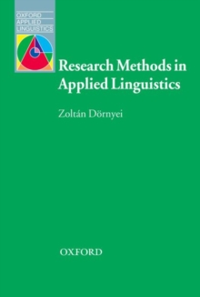 research methods in applied linguistics zoltan dornyei pdf