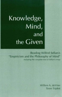 Knowledge, Mind & the Given, Paperback Book