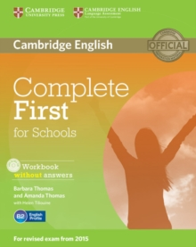 Complete : Complete First for Schools Workbook without Answers with Audio CD, Mixed media product Book