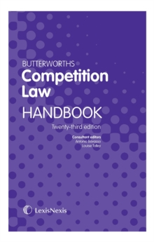 Butterworths Competition Law Handbook, Paperback / softback Book