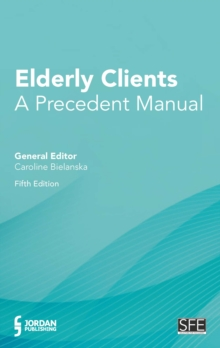 Elderly Clients : A Precedent Manual, Mixed media product Book