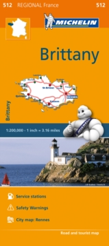 Brittany - Michelin Regional Map 512 : Map, Sheet map Book