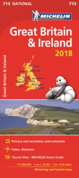 Great Britain & Ireland 2018 National Map 713, Sheet map, folded Book
